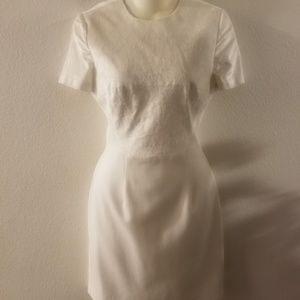 black halo  off white dress